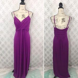 Boston Proper Purple Empire Maxi Dress